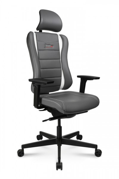 Drehstuhl Sitness RS PRO - grau/weiß - Topstar