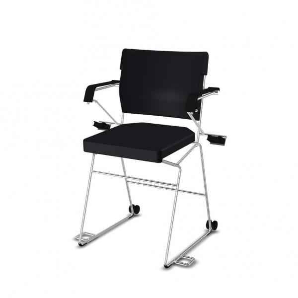 Reha--Sessel erhöht Giroflex 33-7009-RC - Kunstleder schwarz