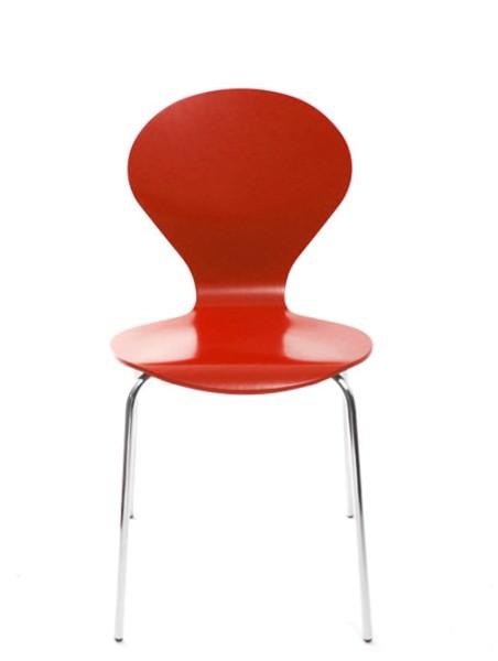 Konferenzstuhl Rondo von Danerka in Rot