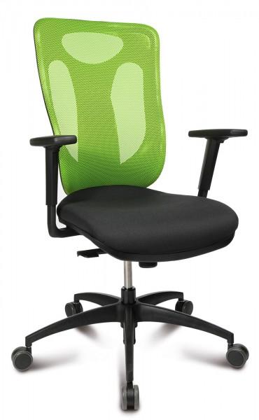 Drehstuhl NET PRO 100 - schwarz / grün - Topstar