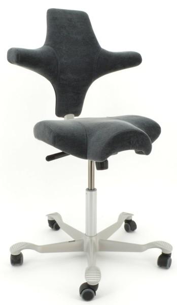 Drehstuhl Capisco 8106 - Exklusiv Stoff - Micro Thread grey - HAG