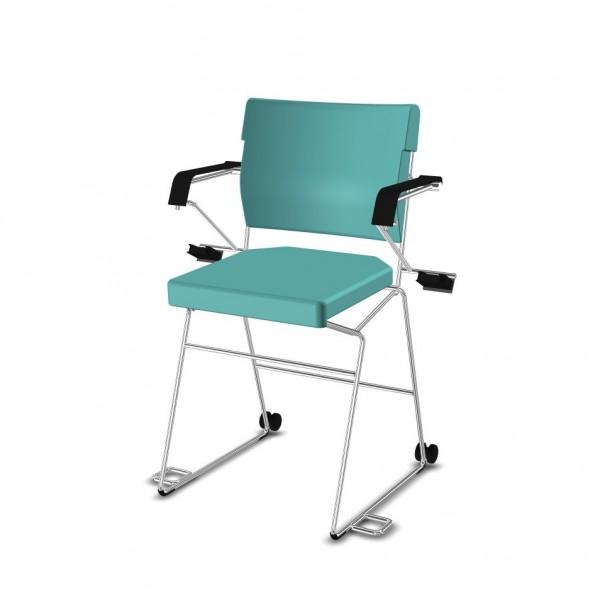 Reha--Sessel erhöht Giroflex 33-7009-RC - Kunstleder türkis