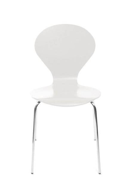 Konferenzstuhl Rondo von Danerka in Weiß