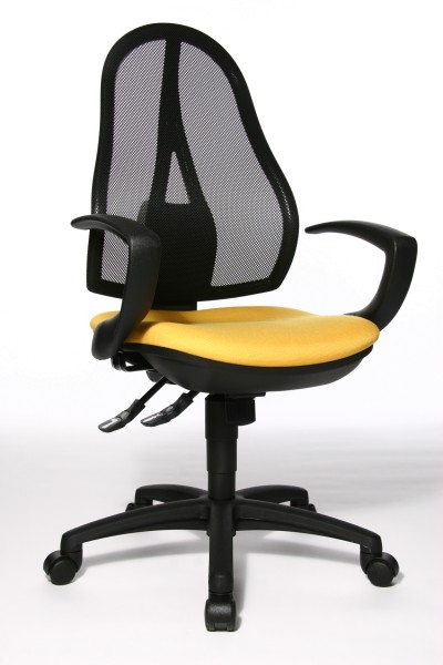 Bürostuhl Open Point SY mit Armlehnen - gelb - Topstar