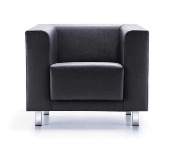 Sessel Vancouver Box VB1 - Leder schwarz - PROFIm