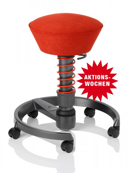 Bürostuhl Swopper Classic - ferraro-rot, inkl. Universalrollen - Aeris