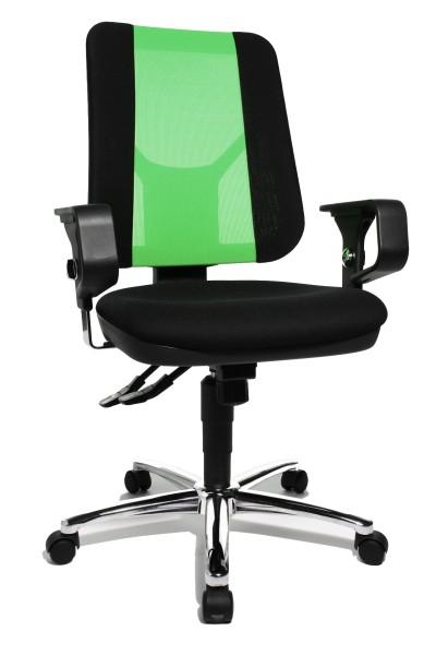 Drehstuhl Artwork 20 SY - schwarz / grün, mit Armlehnen - Topstar