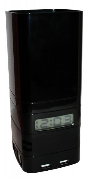LEXON Mini-Totem ist die ultimative Schreibtisch Organizer mit USB-Hub