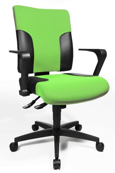 Drehstuhl Two 10 - grün/schwarz, mit Armlehnen - Topstar