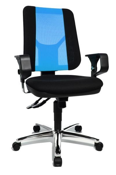 Drehstuhl Artwork 20 SY - schwarz / blau, mit Armlehnen - Topstar