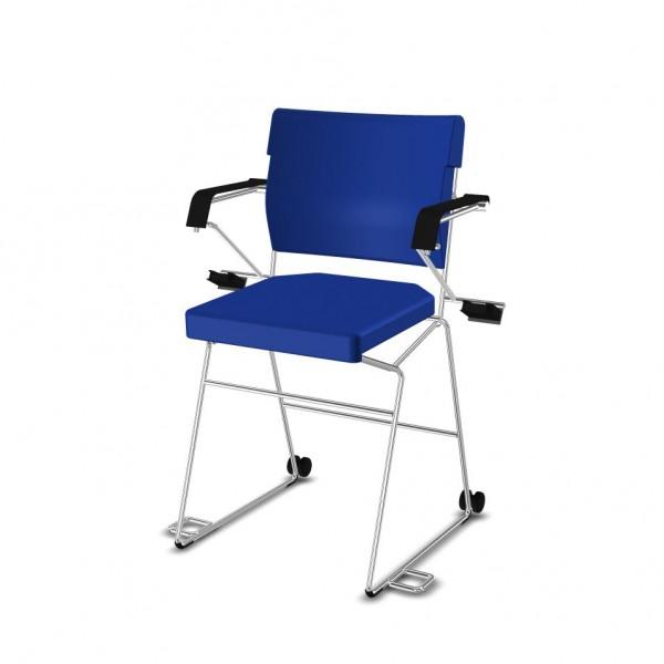 SONDERPREIS - Reha-Sessel erhöht Giroflex 33-7009-RC - Kunstleder blau