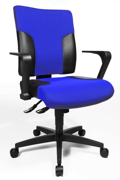 Drehstuhl Two 10 - blau/schwarz, mit Armlehnen - Topstar