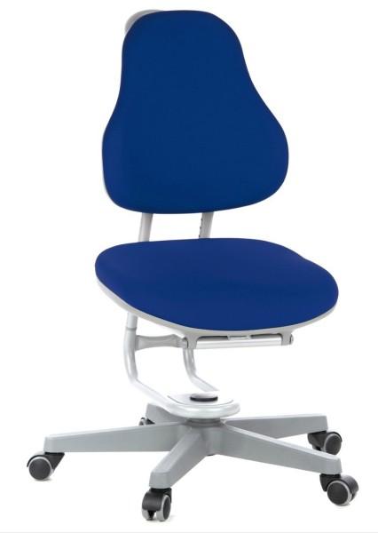 Kinderdrehstuhl BUGGY von Rovo Chair in Blau, Gestell Silber