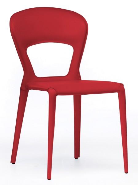 Besucherstuhl Soffio - rot