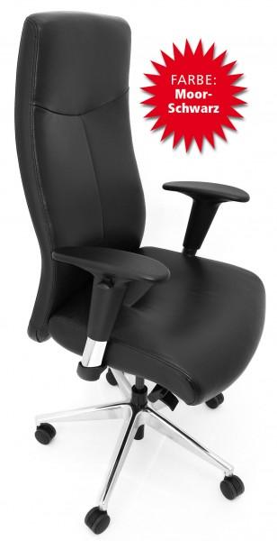 Chefsessel Rovo-Chair - Rinder Nappa - moorschwarz