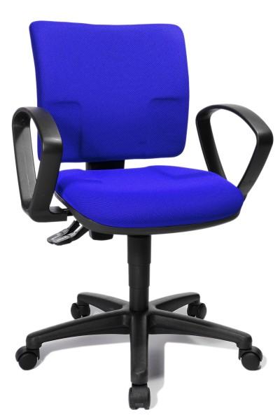 Drehstuhl U50 Small Office mit Armlehnen - blau - Topstar