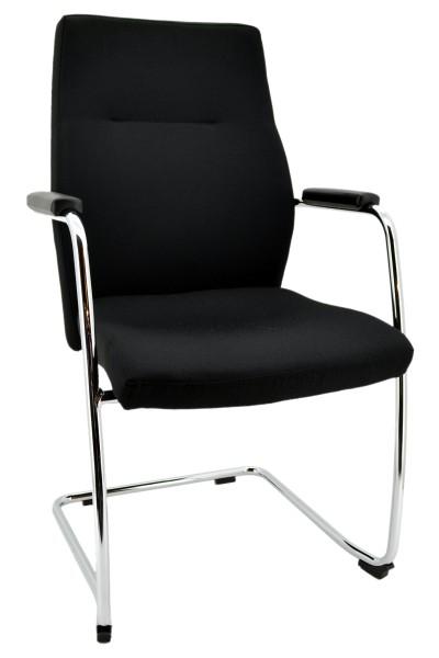 Freischwinger Nero Lux - schwarz - Kunststoffgleiter - Nowy Styl