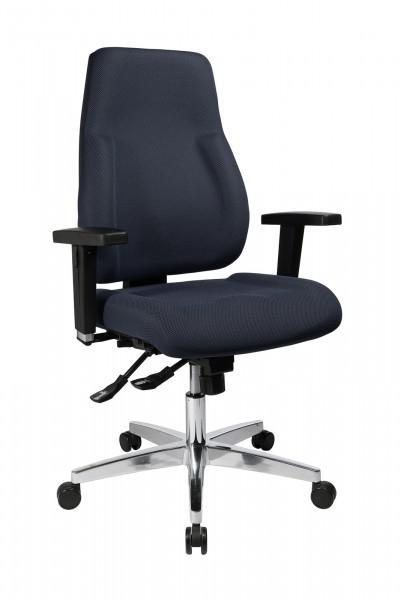 Bürostuhl P 91 mit Hartbodenrollen - grau - Topstar - mit Universalrollen