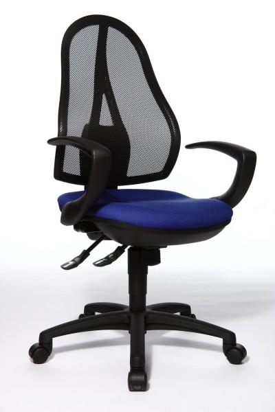 Bürostuhl Open Point SY mit Armlehnen - blau - Topstar