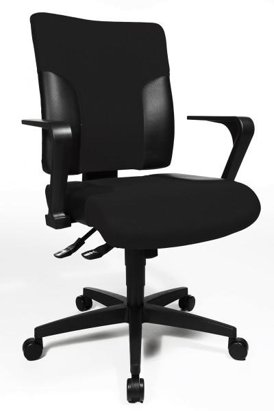 Drehstuhl Two 10 - schwarz, mit Armlehnen - Topstar