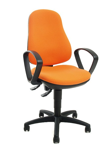 Drehstuhl Point 70 mit Armlehnen - orange - Topstar