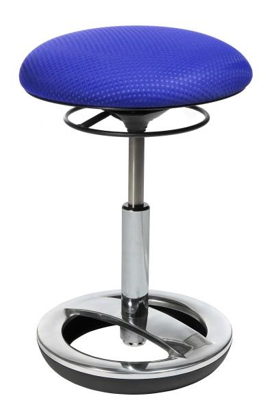 Fitness-Hocker Sitness Bob - blau, Alu poliert - Topstar