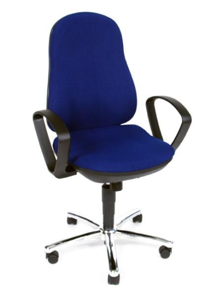 Drehstuhl Synchro Steel mit Armlehnen - blau - Topstar