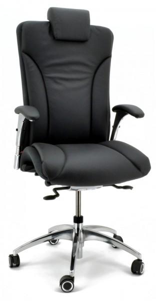 Chefsessel Salveo 8220 - Leder schwarz - Köhl