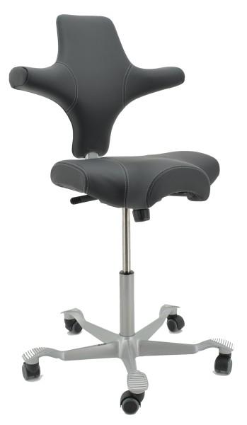 Drehstuhl Capisco 8106 - Antigo Soft Leder schwarz - HAG