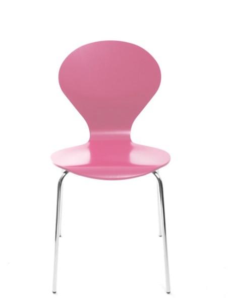 Konferenzstuhl Rondo von Danerka in Pink