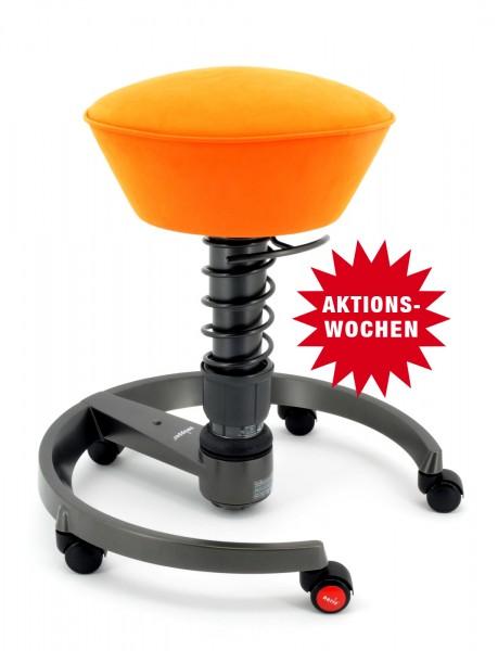 Bürostuhl Swopper Sondermodell - orange, inkl. Universalrollen - Aeris