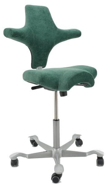 Drehstuhl Capisco 8106 - Velvetine Plus grün - HAG