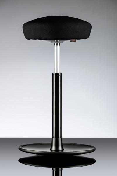Activity Sitz-Stehhocker (HY I Plus) - Mikrofasergestrick schwarz - verstellbar