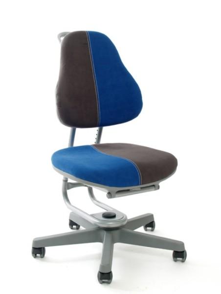 Kinderdrehstuhl BUGGY von Rovo Chair in Micro Blau/Grau, Gestell Silber