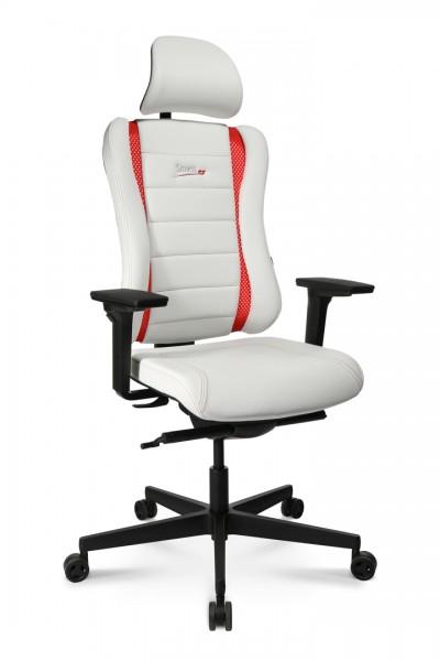 Drehstuhl Sitness RS PRO - weiß/rot - Topstar