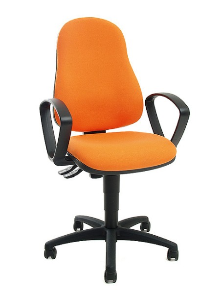 Drehstuhl Point 60 mit Armlehnen - orange - Topstar