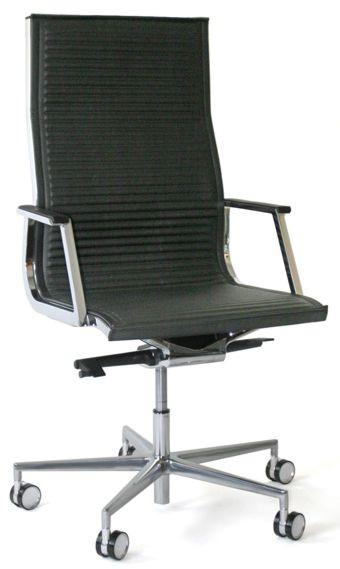 Luxy Chefsessel Nulite - Leder schwarz, Rücken hoch