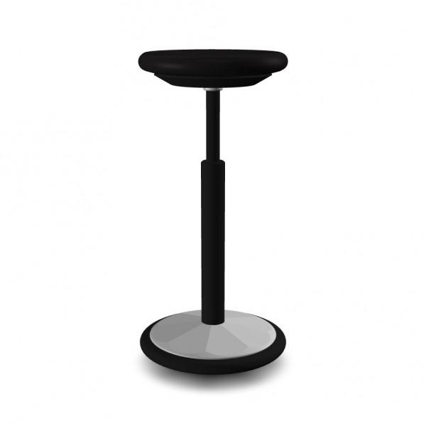 Giroflex 10-3020 Stehhocker - schwarz / alu-metallic