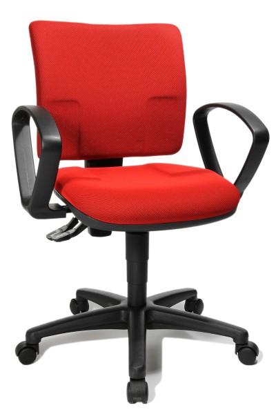 Drehstuhl U50 Small Office mit Armlehnen - rot - Topstar