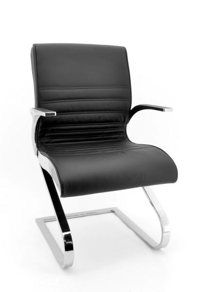 Luxy Konferenzsessel Synchrony - Leder schwarz, Rücken niedrig