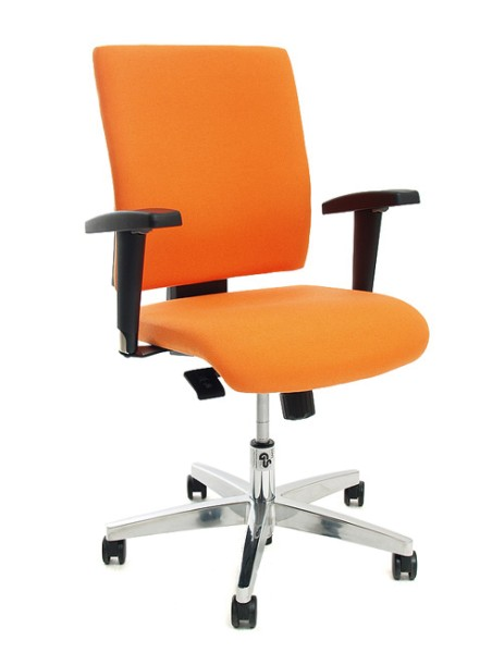 Drehstuhl Topstar Lightstar 10 in Orange mit Armlehnen