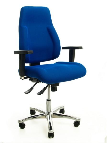 Drehstuhl Topstar Signum Top blau - mit Armlehnen